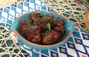 Chocolate BBQ Meatballs