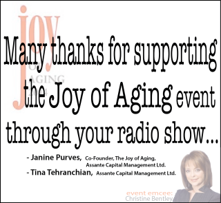 What She Said –  proud sponsor of The JOY of AGING 2014