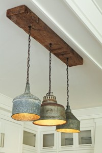 upcycling tin containers to pendant lights