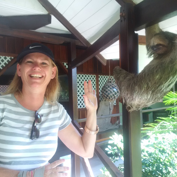 costa rica me and sloth